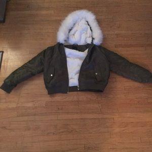 Furry green jacket